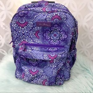 Vera Bradley Lilac Lighten up Rolling Backpack